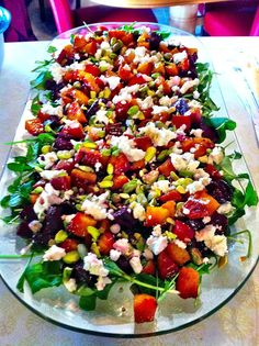 Beets, Arugula & Goat Cheese - Oh My! | city girl | country roots - These are roasted, it sounds amazing, sweet, and tasty a must try for my next family gathering.