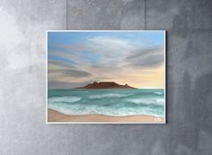 Table Mountain Painting, 14 x 11, Oil Painting, Original Art, Landscape Painting, Sunset Painting, South Africa Art, Cape Town Painting by CFineArtStudio on Etsy