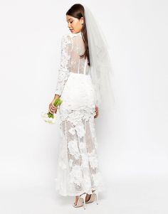 Robe longue fleur dentelle