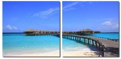 Wholesale Interiors VC-2071AB Bridge to Paradise Mounted Photography Print Diptych - Each