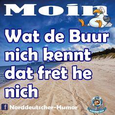 #Tshirt #Hoodie #Shirt #Pullover #Fussmatte #Norddeutsch  #Platt #Plattdeutsch #Ostsee #Nordsee #Schleswigholstein #Watt #Strand #Meer #Schiffe Jokes, Funny, Pullover Shirt, Nice Things, Petra, Nature, Bremen, Tongue Twisters, Humor Deutsch