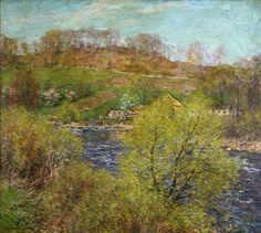Willard Leroy Metcalf American 1858 1925    Blossoming Willows