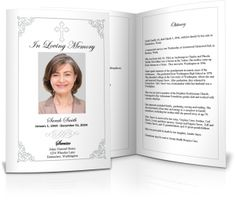 Funeral Service Templates Word Flipuary Creates Online Funeral Programs With Images Videos .