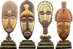 African mask ornaments