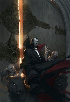 Vampire Art by Tyler Jacobson Dark Fantasy, 3d Fantasy, Fantasy Kunst, Gothic Horror, Arte Horror, Horror Art, Art Vampire, Vampire Love, Design Spartan