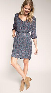 Paisley print viscose dress