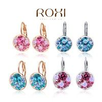 Fashionable white gold plated earrings Red rhinestone pendant Gorgeous & Charming Fine or Fashion: