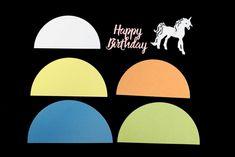 How to Make a Die Cut Unicorn Birthday Card #birthday #card #unicorn #diecutting #papercraft