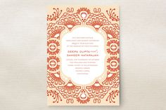 Indian Blessings Wedding Invitations by Cheer Up Press at minted.com