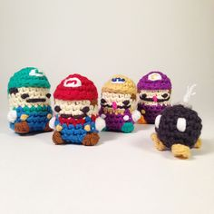It's National Video Games Day! Grab your controller -  or better yet, grab your hooks & needles and craft something inspired by your favorite game! Make these Super Mario crochet cuties with Lion Brand Bonbons or Cotton-Ease!