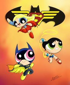The day is saved by ~OzzKrol  PowerPuff Girls a la DC !!! : )
