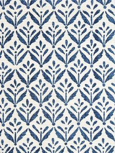 Morrison Cobalt fabric - small blue print on white heavy cotton slubby basket print Motifs Organiques, Motifs Textiles, Textile Prints, Textile Patterns, Fabric Wallpaper, Pattern Wallpaper, Antique Wallpaper, Surface Pattern Design, Pattern Art