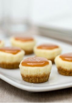 Salted Caramel Cheesecake Minis – It takes less than a teaspoon of kosher salt to bring out the sweetness of the caramel in these scrumptious dessert minis.