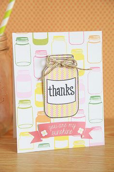 Lawn Fawn - Pink Lemonade paper and stickers, Summertime Charm _ Thanks, You are my Sunshine by unifyhandmade, via Flickr