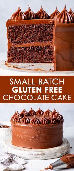 Best Gluten Free Cake Recipe, Gluten Free Vanilla Cake, Gluten Free Chocolate Cupcakes, Gluten Free Sweets, Gluten Free Cakes, Gluten Free Baking, Vegan Baking, Flourless Desserts, Flourless Chocolate Cakes