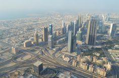 výhľad na Dubaj z najvyššej veže sveta Burj Khalifa