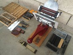 Adana 5 x 3 five three tabletop letterpress printing machine  with extras