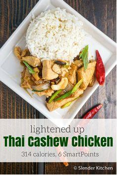 Lightened Up Cashew Chicken - Slender Kitchen