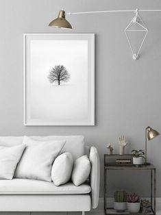 Plakat drzewo plakat samotne drzewo czarno biały plakat | Etsy