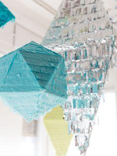 Tissue paper and foil pinatas www.karcsipapir.hu