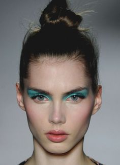 Neon make up on gorgeous model