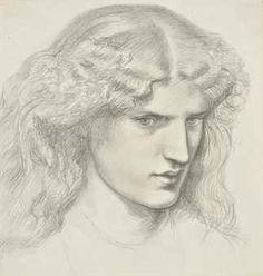 Pre Raphaelite Art: Dante Gabriel Rossetti - Portrait of Annie Miller
