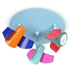 Kids bedroom / #nursery multi #coloured aeroplane #ceiling spotlight spot light n,  View more on the LINK: 	http://www.zeppy.io/product/gb/2/331011001505/