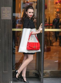 Lilly Collins so cute!