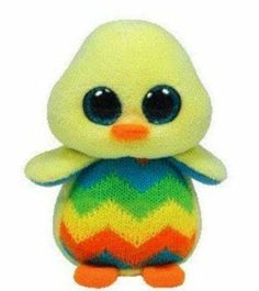 Ty Basket Beanies Tweet the Yellow Chick Beanie Boos Stuffed Plush Toy #Ty
