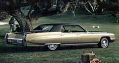 1971 Cadillac Sedan deVille in Cypress Green Metallic (paint code Cadillac Ats, Green Metallic Paint, American Classic Cars, Us Cars, General Motors, Paint Code, Buick, Vintage Cars, Cutaway