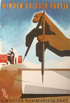 Politikai plakátok 1945-1948 Hongrie , Anonyme