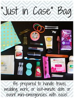 "What's in My ""Just in Case"" Bag - Ashley Brooke - Ashley Brooke // Powered by chloédigital Just In Case, Just For You, School Survival Kits, Do It Yourself Inspiration, Ashley Brooke, What In My Bag, My Bags, Girly Things, Girly Stuff"