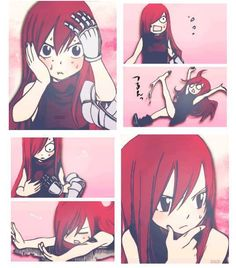 Little Erza is just too cute.