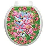Who doesn't need a pink flamingo toilet tattoo?