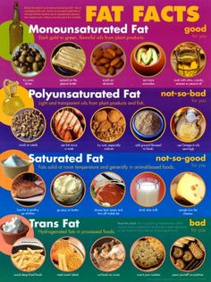 fats...the good, the bad, the ugly (plus many other great food charts and exercise tips)
