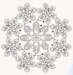 Pink crochet flowers. A beautiful job with in yarn standards - Free Patterns in Crochet