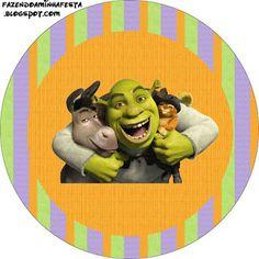 LARGE PRINTABLE SET- Shrek – Kit Completo com molduras para convites, rótulos para guloseimas, lembrancinhas e imagens! | Fazendo a Nossa Festa
