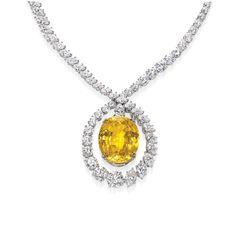 Harry Winston canary diamond necklace