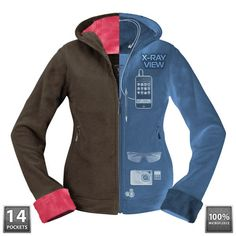 SeV Chloe Hoodie - SCOTTEVEST - 14 pockets - Imagine the freedom of cruising a new city, exploring museums and boutiques without your purse weighing you down giving you a shoulder ache.