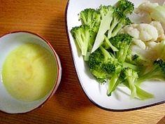 「ブロッコリーカリフラワーチーズサラダ」野菜にクレイジーソルトチーズフォンヂュ味【楽天レシピ】