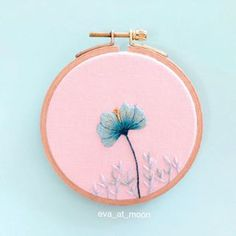 It works more and more charming as time passes by. Love it! . . . . #embroidery #handembroidery #embroideryart #needlework #hoopart #insperation #creating #craft #needleandthread #dmc #threadpainting #flowers #flowerstagram #drawingwiththread #drawing #sketch #stitch #handmade #onlyone #mint #cobalt #cobaltblue #designe #designedbyeva #eva_at_moon