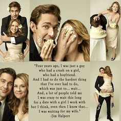 """Jim Halpert, The Office: """"Four years ago, I was just a guy who had a crush on a… Office Memes, Office Quotes, The Office Love Quotes, Fandoms Unite, Tv Quotes, Movie Quotes, Couple Quotes, Girl Quotes, Pam The Office"""