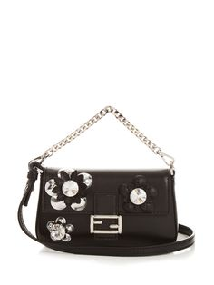Click here to buy Fendi Micro Baguette leather cross-body bag at MATCHESFASHION.COM