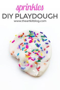 Homemade Playdough with Sprinkles. Do you love sprinkles? We certainly do! We love how cheery and fun they are, so when we were planning our next themed playdough activity, we knew we had to incorporate sprinkles. No doubt our homemade playdough recipe with sprinkles would make for the perfect birthday party activity or party favor but why wait for a party to enjoy sprinkles? We say celebrate today and what better way than with sprinkle playdough. So, without further ado, please read on to…