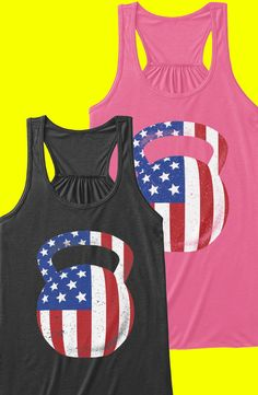 Discover Kettlebell Flag Workout Women's Tank Top from We Love Fitness, a custom product made just for you by Teespring. With world-class production and customer support, your satisfaction is guaranteed. Crossfit Shirts, Gym Clothing, Kettlebell Training, Love Fitness, Workout Attire, Funky Fashion, Workout Tanks, Work Clothes, Fun Workouts