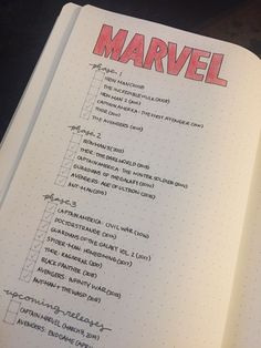 bullet journal ideas bullet journal ideas for any MCU geek out there?made by meee Marvel Movies List, Marvel Movies In Order, Netflix Movies, Bullet Journal Netflix, Movie Bullet, Journal Pages, Journal Ideas, Journals, Geek Out