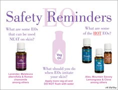 ESSENTIAL OIL SAFETY REMINDERS [2] -- (1) What are some of the Essential Oils that can be used neat on the skin? (2) What should you do when Essential Oils irritate your skin? (3) What are some of the HOT Essential Oils? Art by Dolf Cheng www.dolfcheng.com