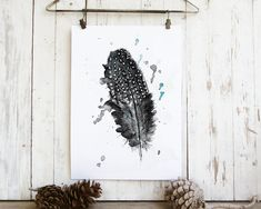 Nature Prints, Bedroom Decor, Feather Wall Art, Natural Art, New Home Gift, Nordic Art, Realistic Sketch, Feather Print, Guinea Fowl Art Wall Art Decor, Wall Art Prints, Nordic Art, Nordic Design, Hipster Decor, Realistic Sketch, Feather Wall Art, Sunflower Pictures, Nature Illustration
