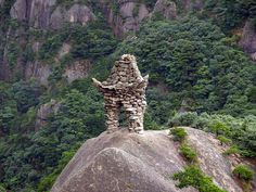 Stone Monument by Kmcheng, via Flickr Effigy Mounds, Chinese Mountains, Rune Stones, Concrete Building, Hangzhou, Brick, The Past, Monuments, World
