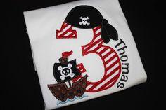 fun pirate birthday shirt